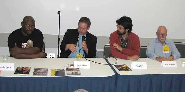 Doselle Young, Paul Cornell, Greg Pak, Harry Harrison
